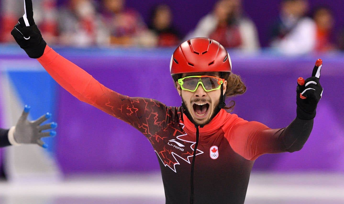 Le patineur de vitesse médaillé d'or Samuel Girard