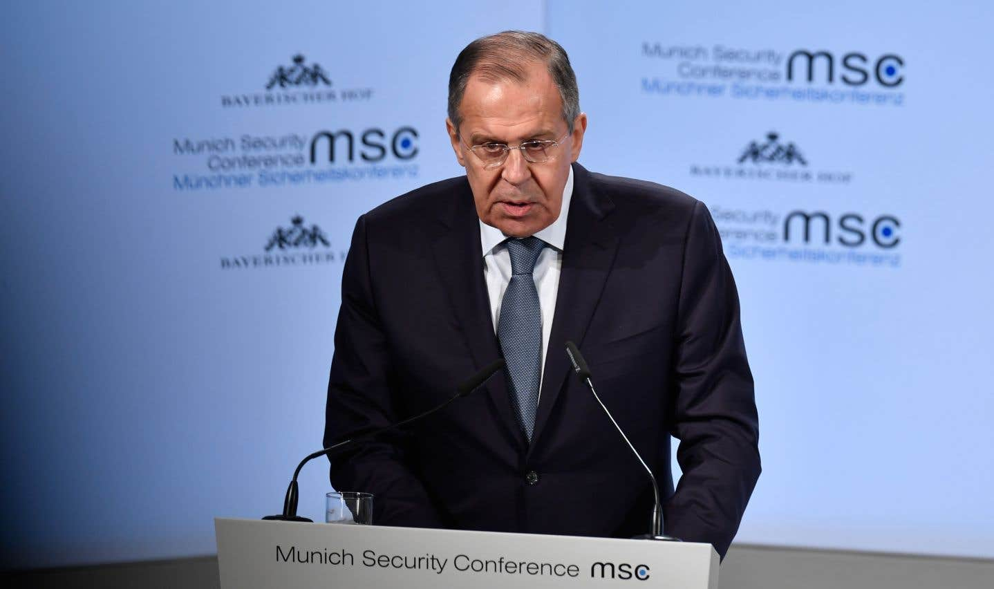 Le ministre russe des Affaires étrangères, Sergueï Lavrov, samedi, à Munich