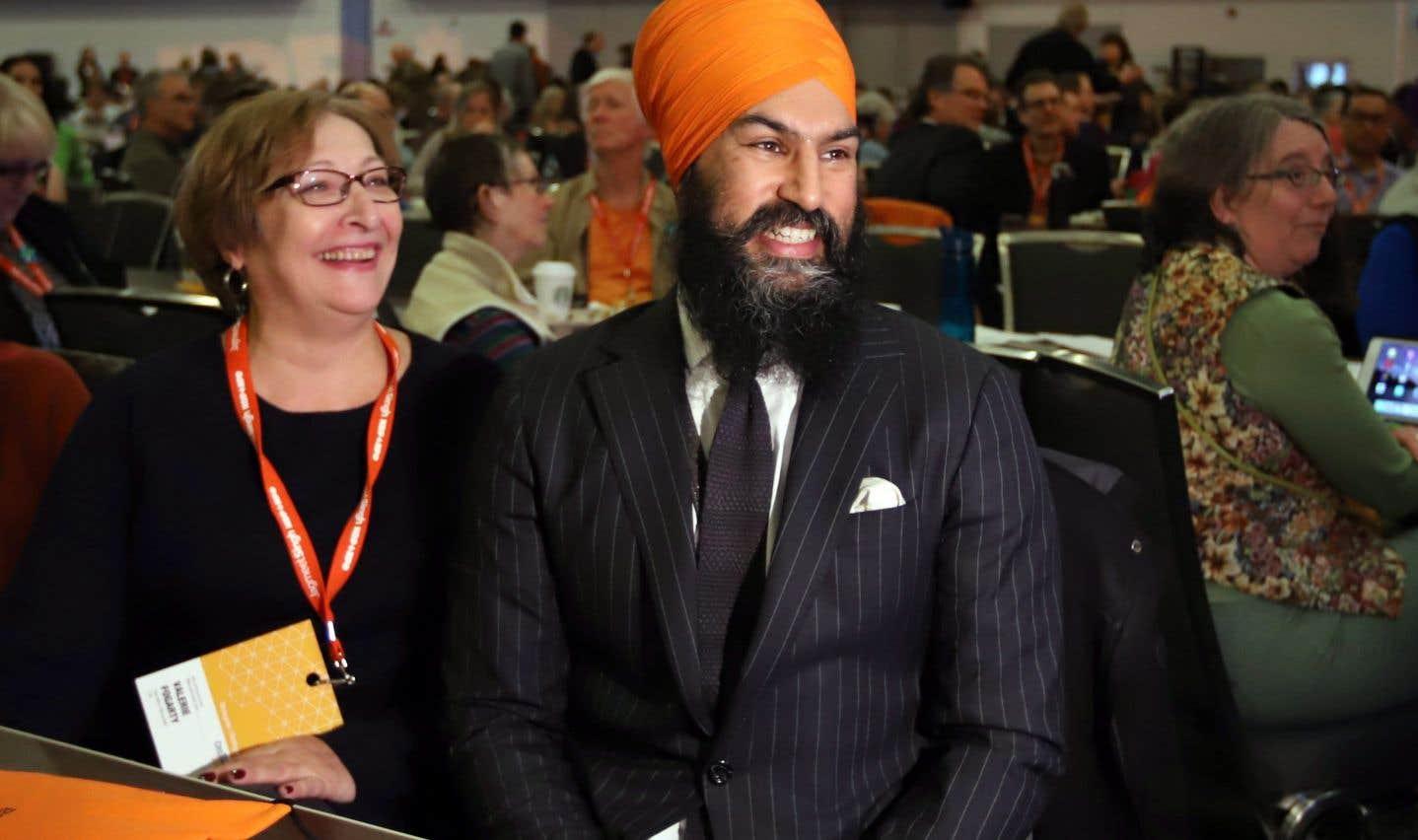 Le chef néodémocrate, Jagmeet Singh, au début du congrès du parti, à Ottawa, vendredi