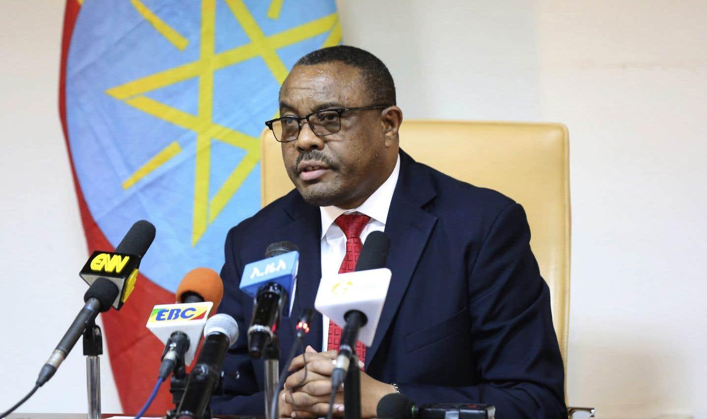 Le premier ministre démissionnaire Hailamariam Desalegn