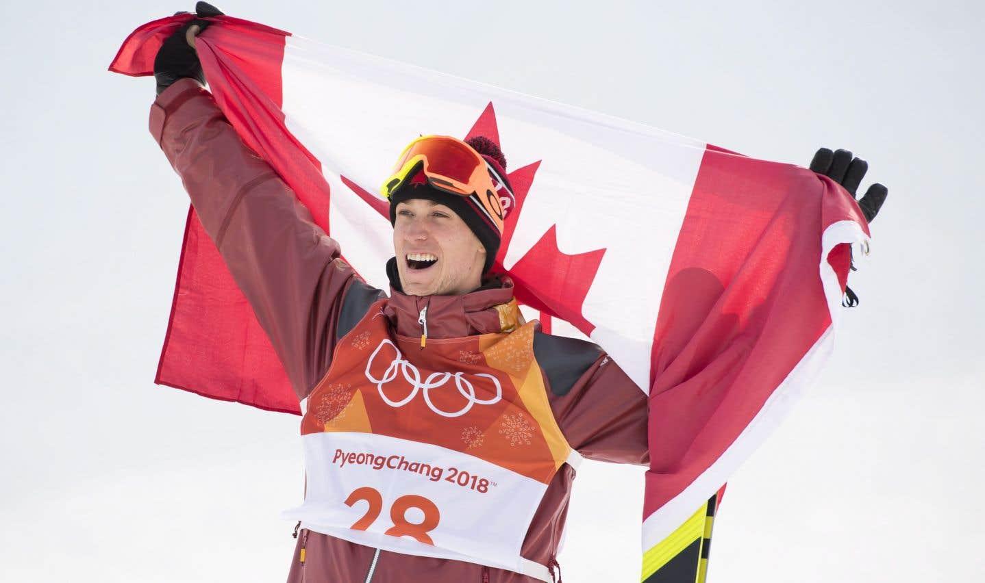 Le Québécois Alex Beaulieu-Marchand, après la finale de l'épreuve de slopestyle en ski acrobatique