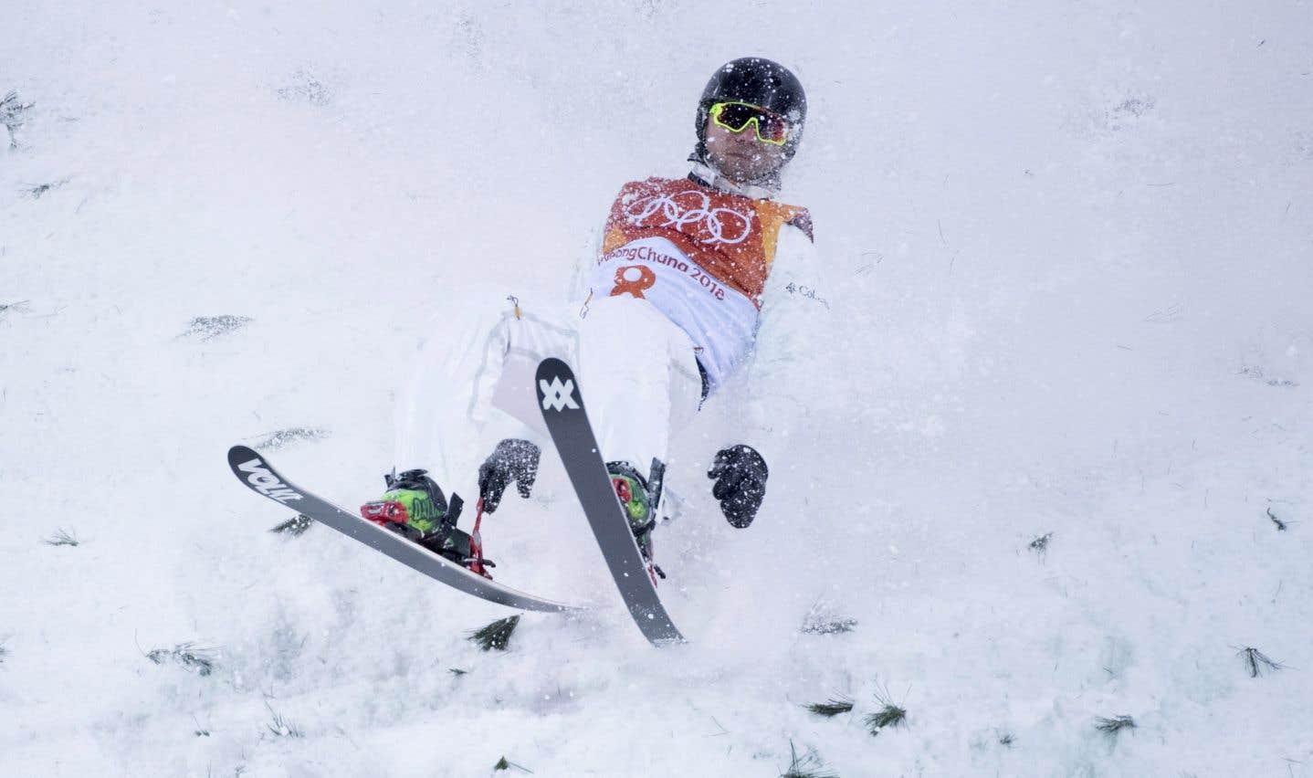 Olivier Rochon a failli réussir son pari avec un saut audacieux, mais il a raté son atterrissage pour ainsi perdre tout espoir de médaille.