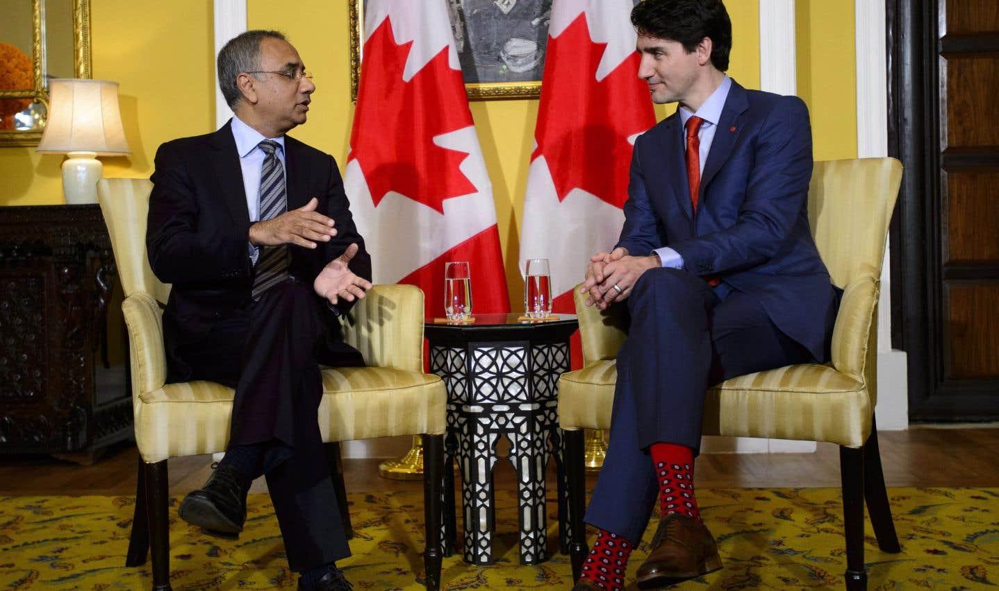 Justin Trudeau a notamment rencontré le patron de la firme de technologies de l'information InfoSys, Salil Parekh.