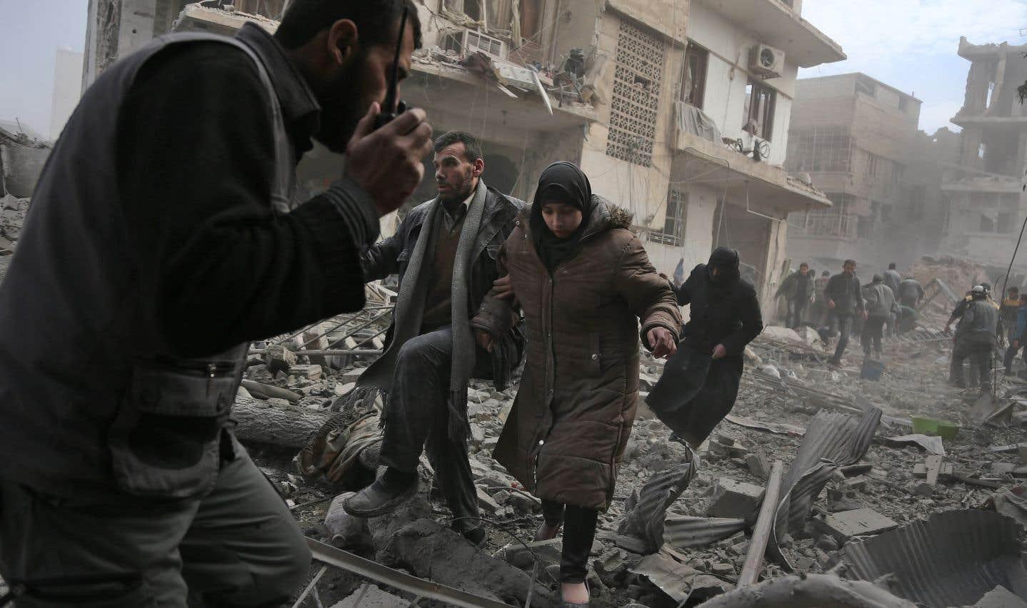 Plus de 200 civils ont été tués depuis dimanche par de violents bombardements du régime syrien sur la Ghouta, selon l'OSDH.
