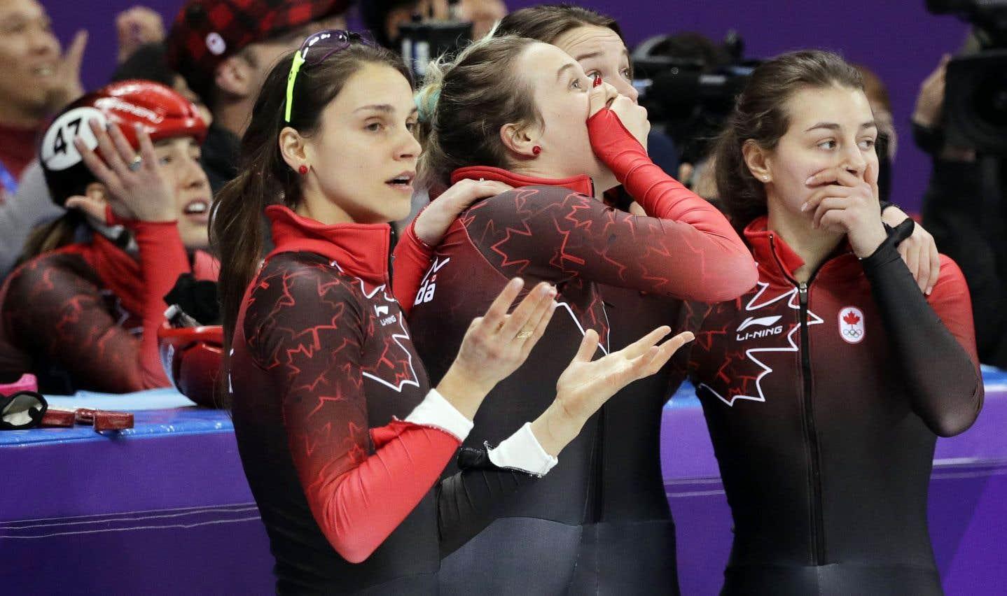 La décision des officiels a semé la consternation et l'incompréhension chez les patineuses canadiennes.