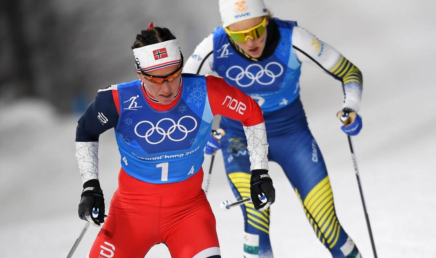 Marit Björgen a établi un nouveau record de médailles dans l'histoire des JO d'hiver en décrochant avec la Norvège le bronze du sprint par équipes de ski de fond.