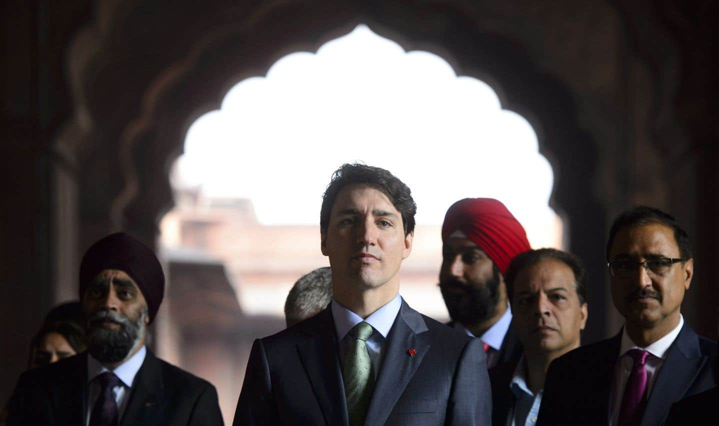 Le premier ministre Justin Trudeau en visite dans une mosquée de New Delhi, jeudi