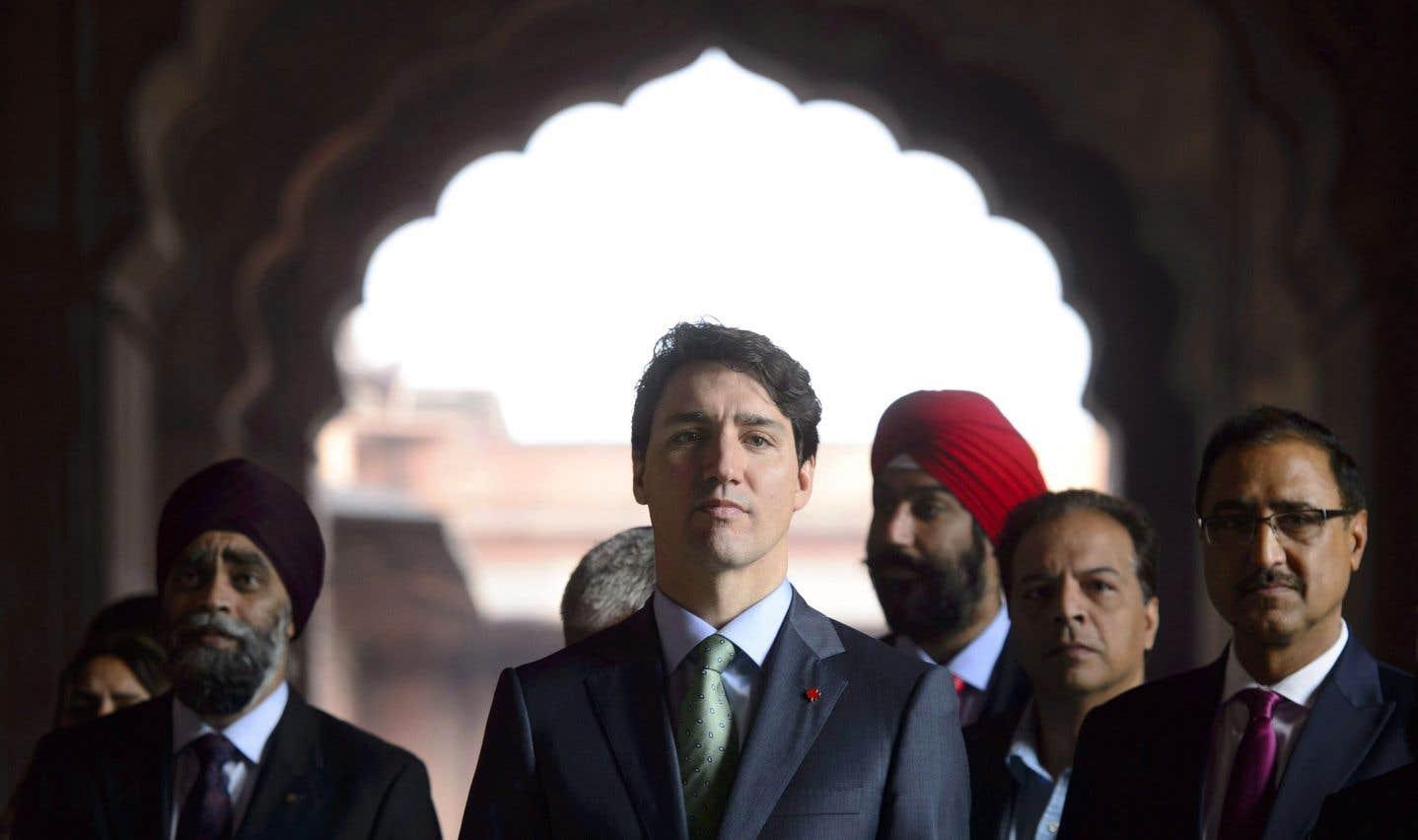 Justin Trudeau a notamment visité la mosquée Jama Masjid de New Delhi, jeudi.