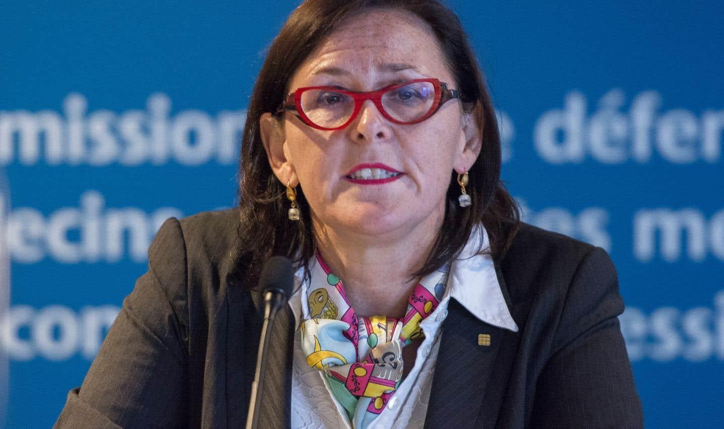 La présidente de la Fédération des médecins spécialistes du Québec (FMSQ), Diane Francoeur