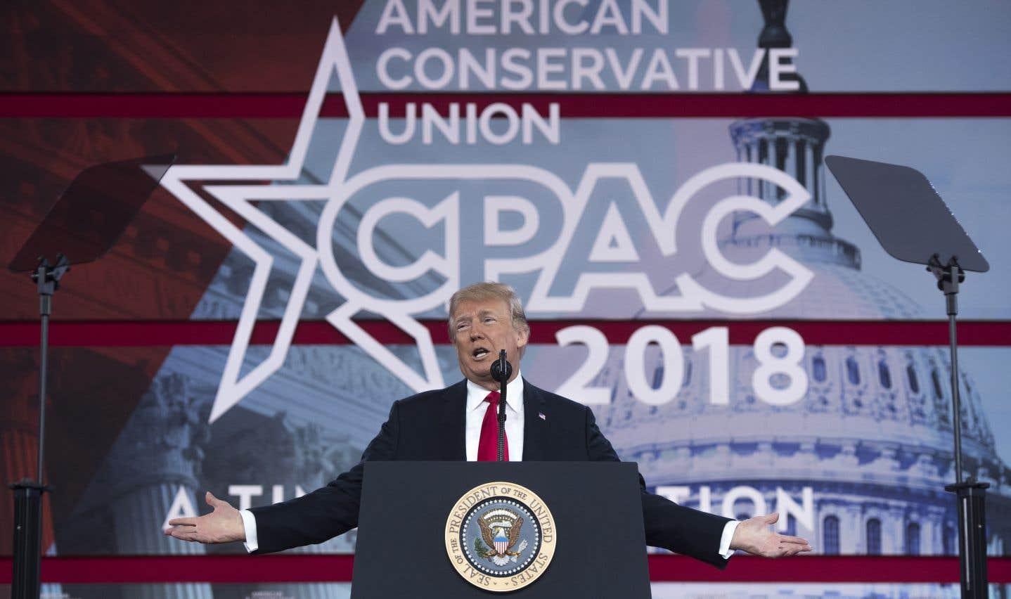 «Aujourd'hui, nous avons imposé [à la Corée du Nord] les sanctions les plus lourdes jamais imposées contre un pays», a lancé Donald Trump à l'issue d'un très long discours lors de la conférence CPAC.
