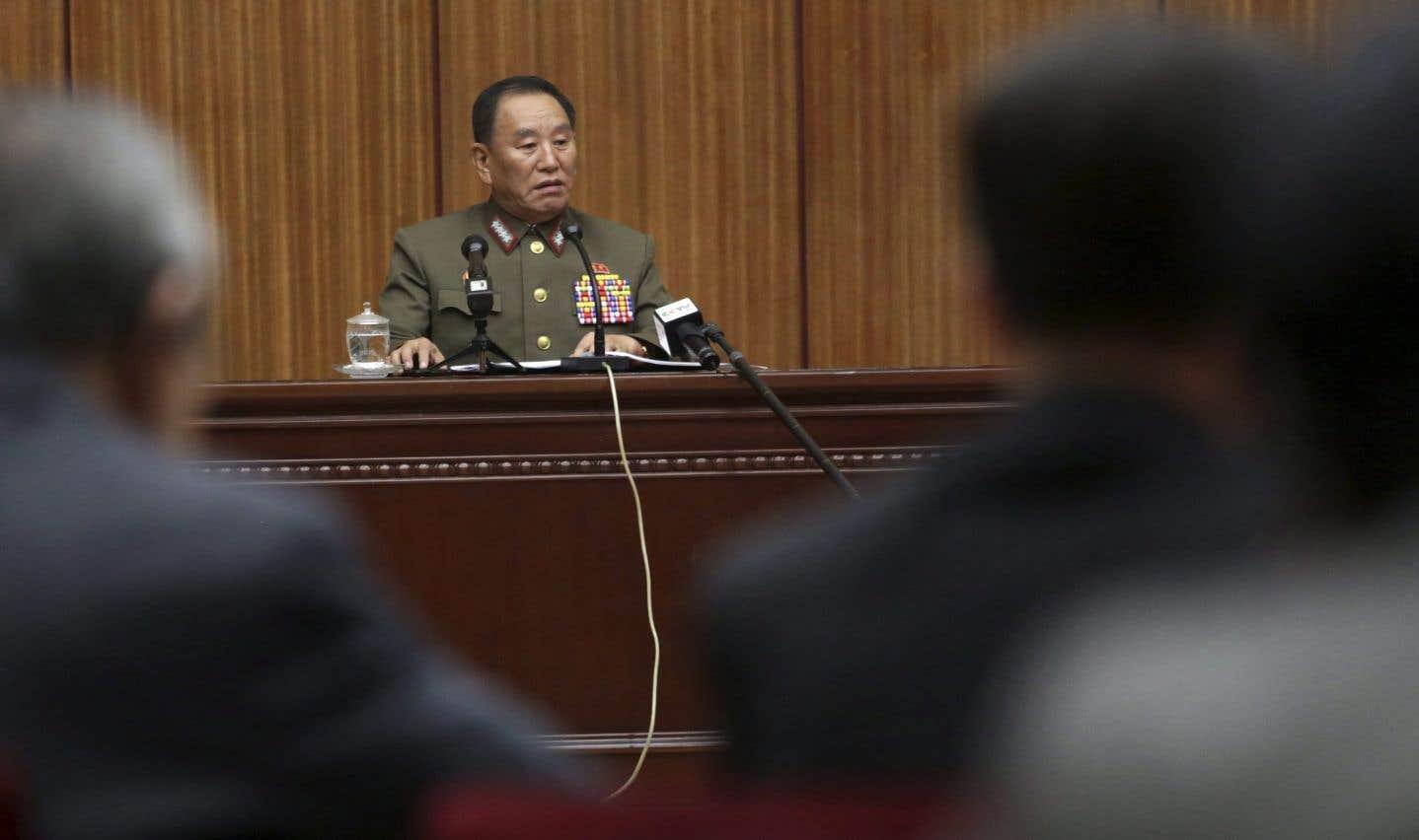 La délégation nord-coréenne estconduite par le général Kim Yong Chol.