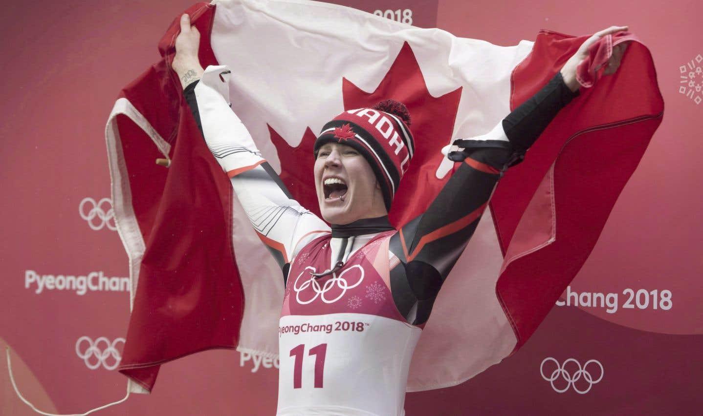 Alex Gough, de Calgary, a remporté à Pyeongchang la première médaille olympique de l'histoire du Canada en luge.