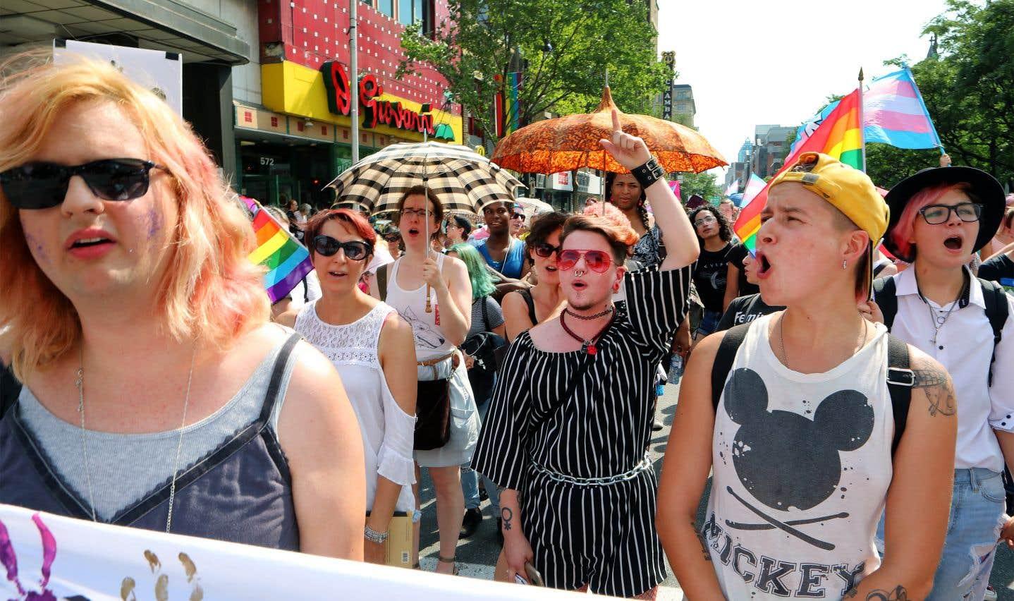 Certaines personnes étaient là aussi simplement pour soutenir la cause, même si aucun de leurs proches n'est trans.
