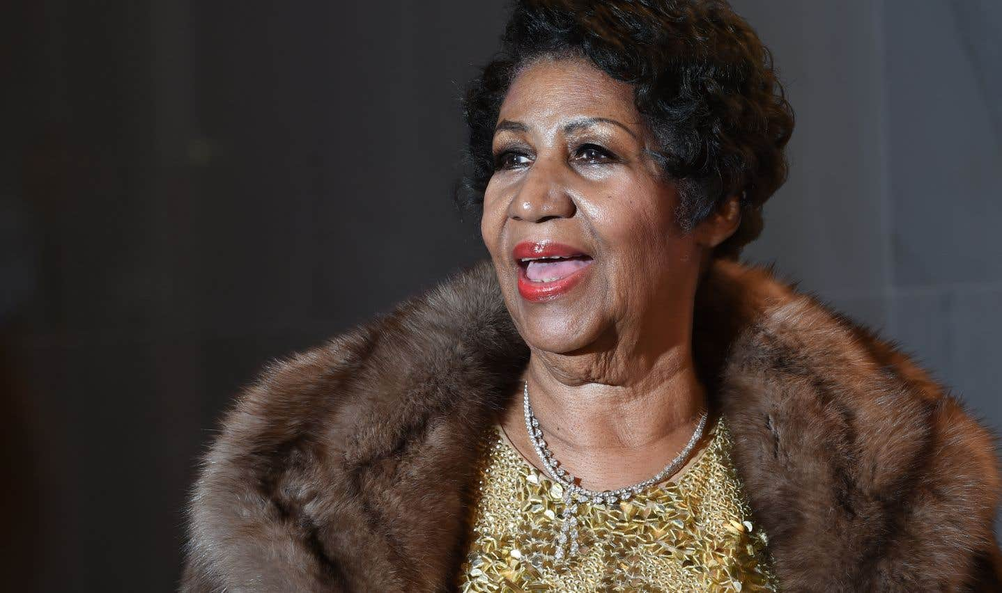 Aretha Franklin sur le tapis rouge des prix des arts de la scène du Kennedy Center, à Washington, en 2015