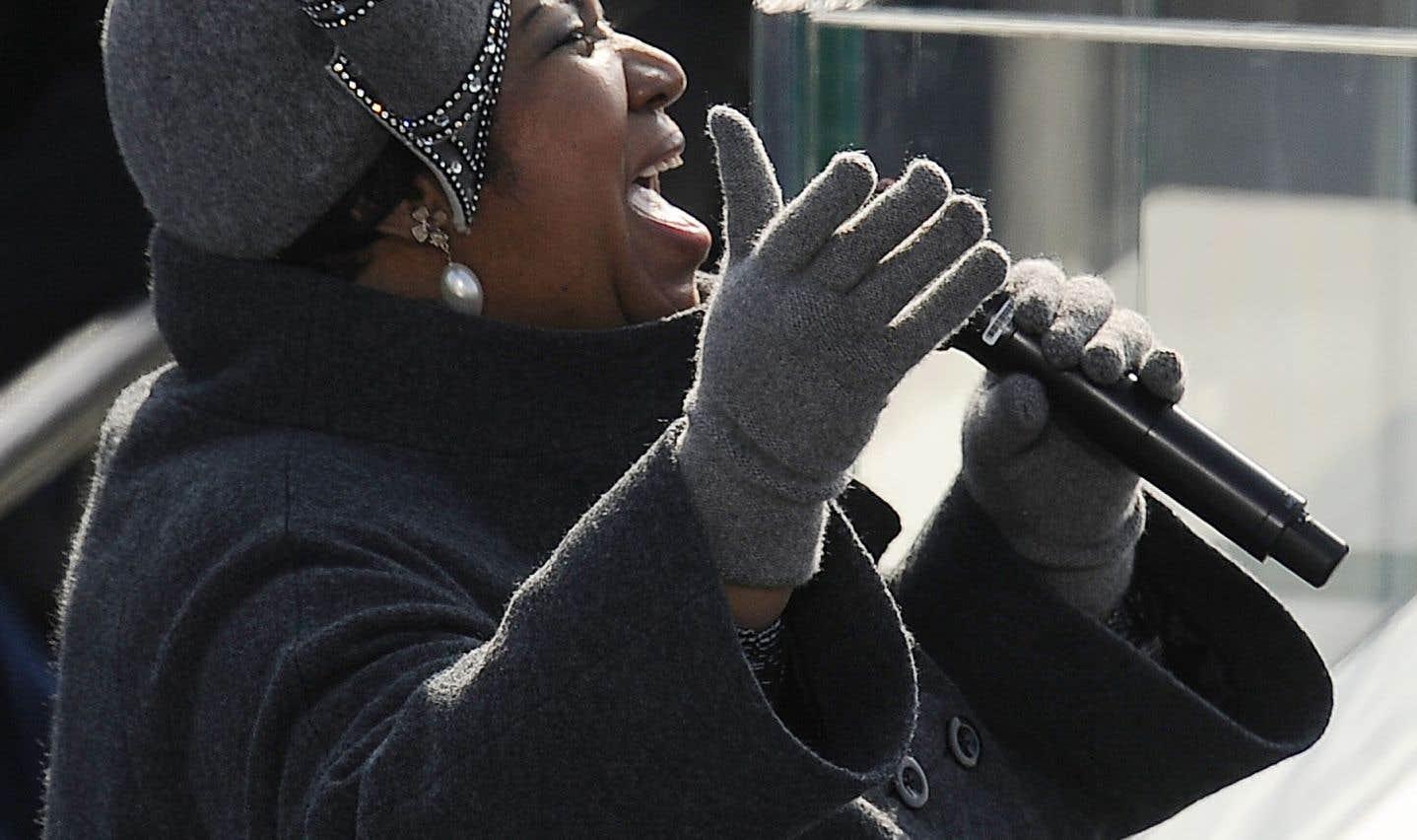 Aretha Franklin, lors de la cérémonie d'intronisation de Barack Obama à la présidence des États-Unis, en 2009