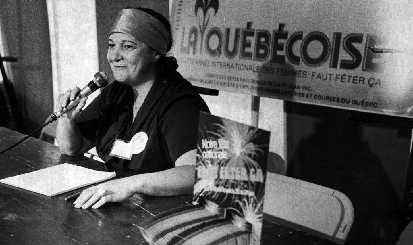 Lise Payette en 1975 à l'occasion de la Fête nationale du Québec