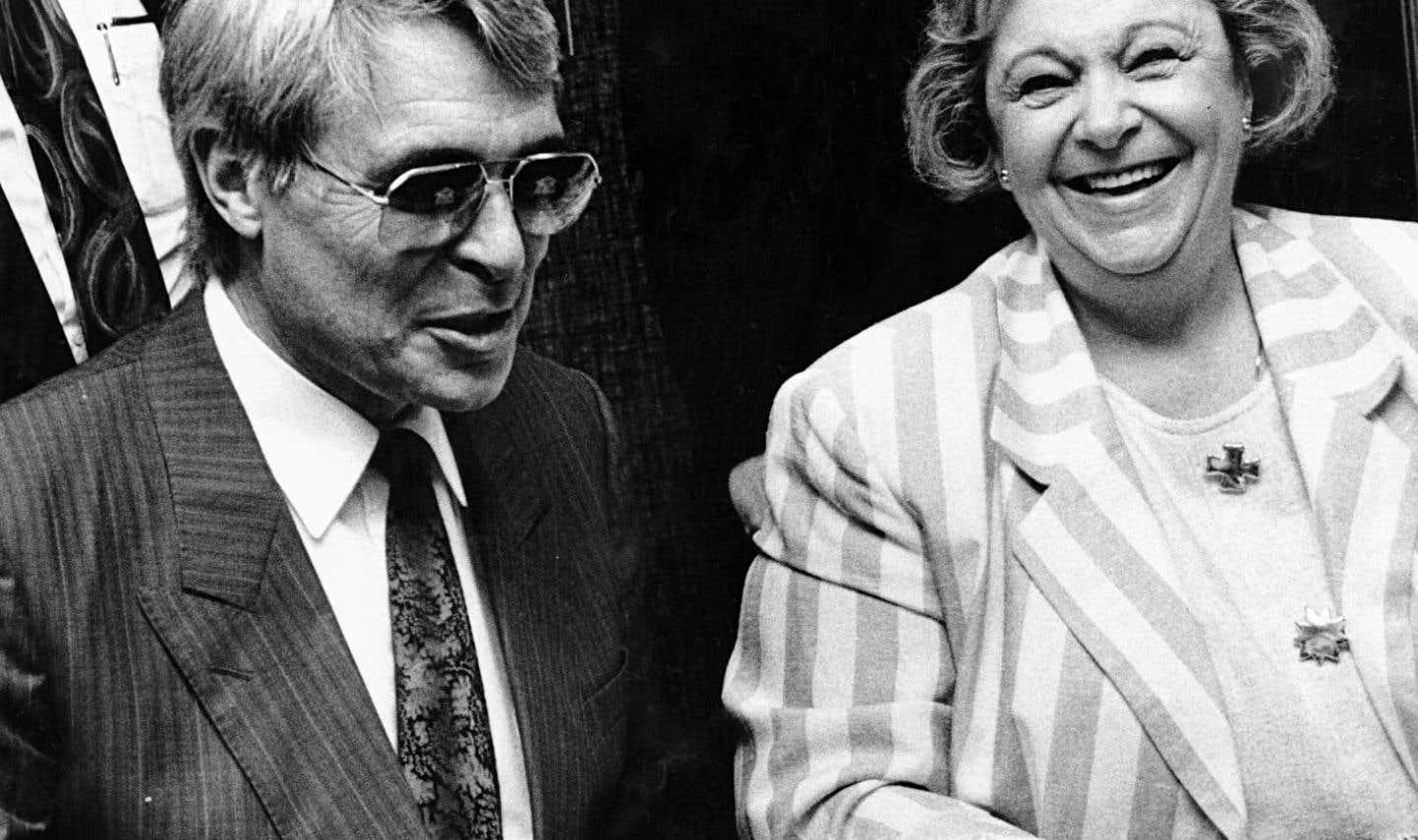 Lise Payette en compagnie de Richard Garneau, en juin 1992