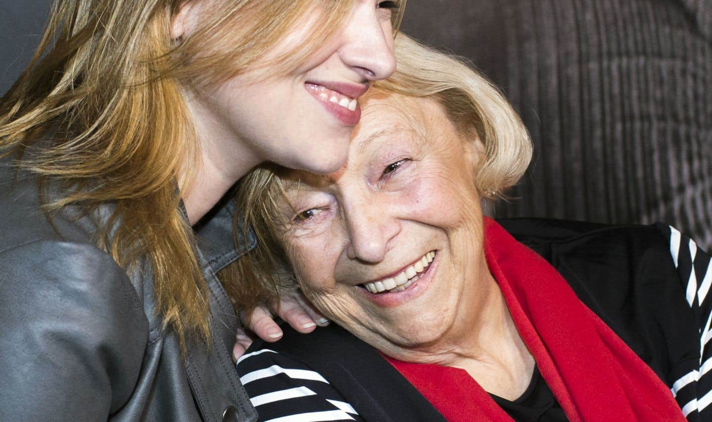 Lise Payette et sa petite-fille Flavie Payette-Renouf, en avril 2015.