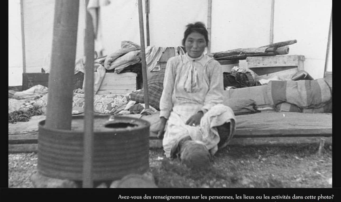 Femme inuite, Kangiqsujuaq (anciennement Wakeham Bay, Québec), 1948.
