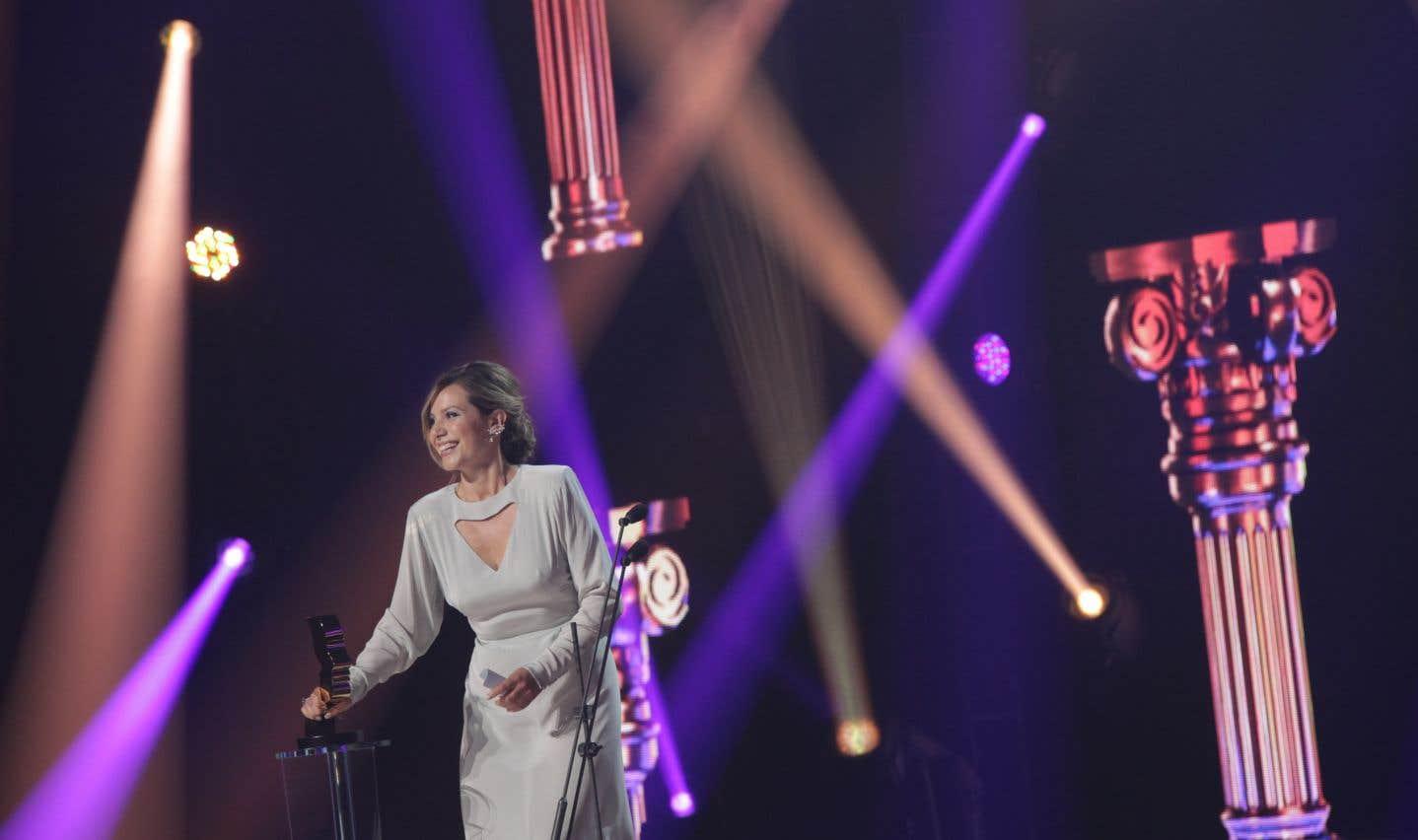Magalie Lépine-Blondeau a été récompensée par le prix du meilleur premier rôle féminin dans une série dramatique pour son rôle dans «Plan B».