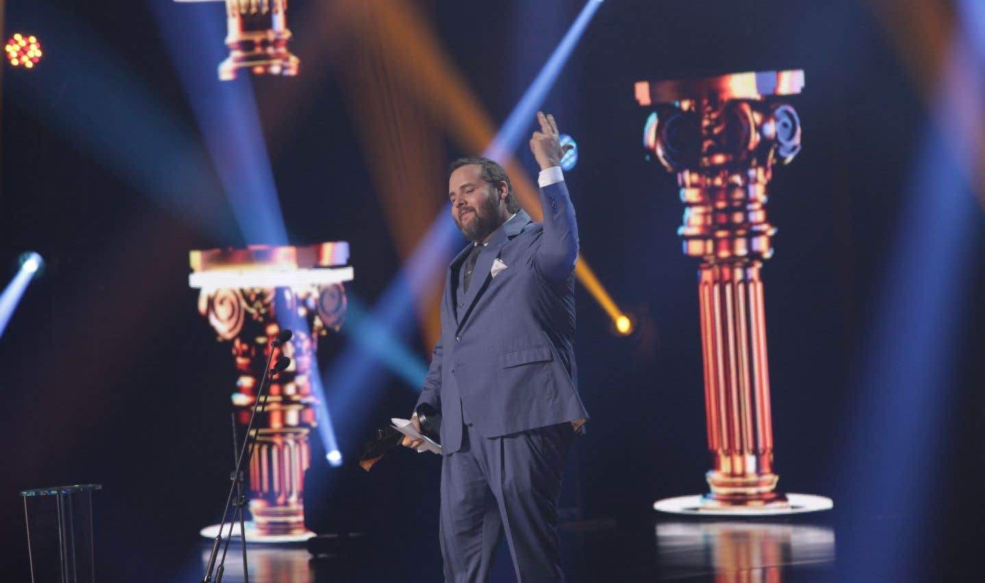 Antoine Bertrand a été récompensé par le prix du meilleur premier rôle masculin dans une comédie pour son rôle dans «Boomerang». Il a livré ses remerciements en alexandrins.