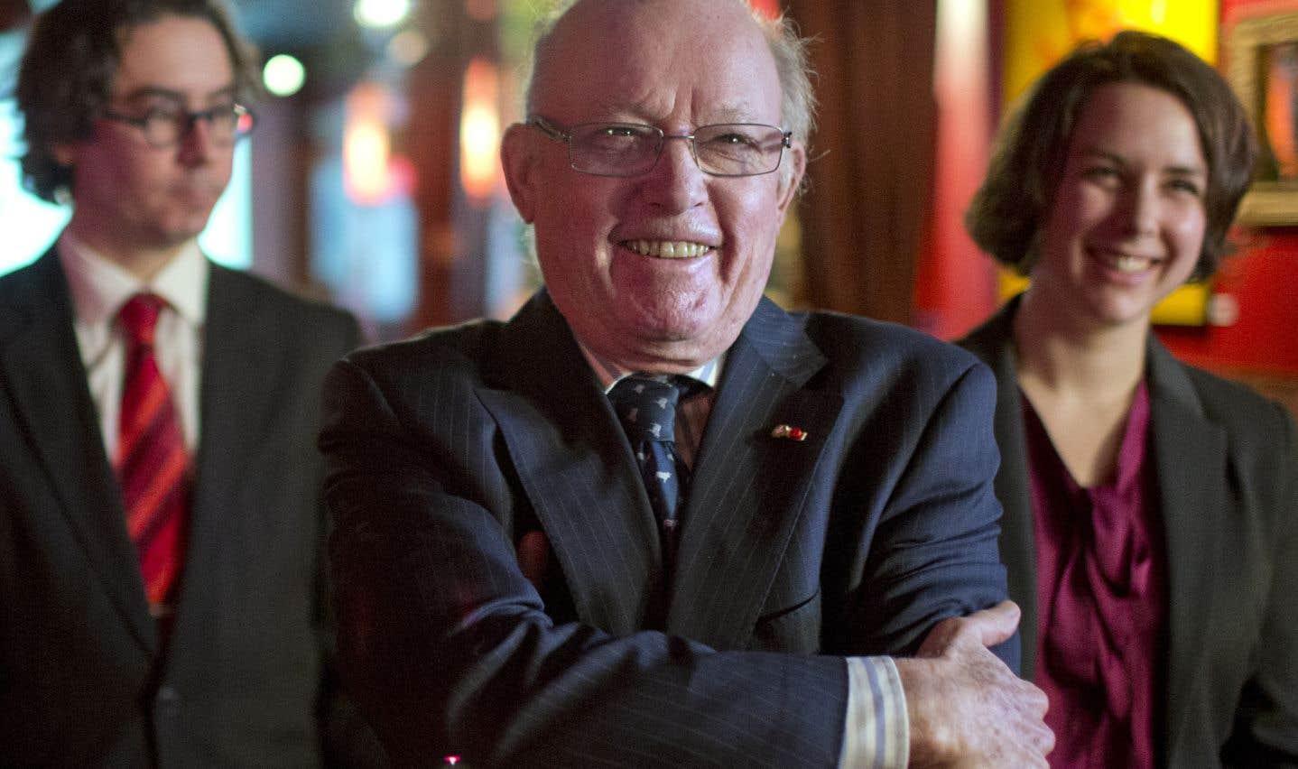 L'ex-premier ministre québécois Bernard Landry, lors de la création en janvier 2013 de la Convergence nationale, un rassemblement d'organismes souverainistes voulant ramener la question nationale au centre du débat public.