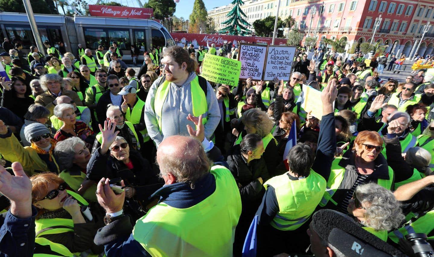 Des manifestants se sont aussi rassemblés à Nice, dans le sud-est de la France.