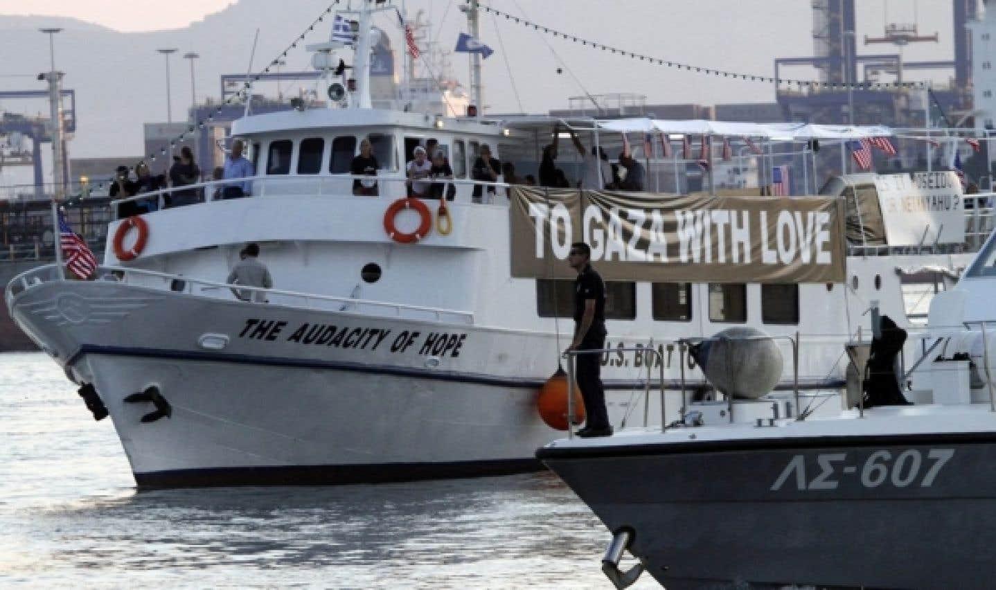 Flottille d'aide pour Gaza: un capitaine de bateau est arrêté par la Grèce