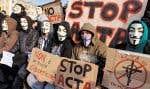 Des manifestations anti-ACTA ont eu lieu dans de nombreux pays européens ces derniers mois, notamment en Allemagne et en France comme ici, à Nice, en février dernier.