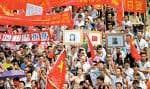 Des manifestations ont eu lieu dans une centaine de villes en Chine dont Wenzhou.