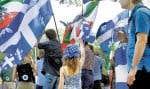 L'usage du francais sur l'île de Montréal inquiéte et donnelieu à des manifestations ponctuelles.