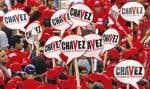 Vêtus de rouge, les militants d'Hugo Chávez ont été organisés en «bataillons» et en «pelotons» pour l'élection présidentielle.