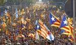 Ils étaient très nombreux, les Catalans, à manifester pour l'indépendance le mois dernier.