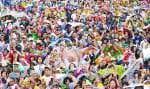 Six millions de personnes ont bravé la pluie pour entendre la messe du pape.