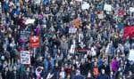 Des milliers de personnes ont répondu à l'appel de l'ASSÉ le 2 avril dernier et ont manifesté leur mécontentement vis-à-vis les mesures d'austérité du gouvernement.