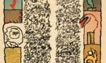 Brassée sismographique, 1972. Logogramme de Christian Dotremont reproduit  en phototypie et lithographie de Pierre Alechinsky, H.C.