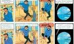 Une planche de l'album de Tintin adaptée à la langue québécoise
