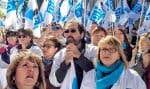 Manifestation de la FIQ sur la colline parlementaire à Québec, le 10 octobre dernier