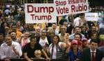 Des partisans du sénateur de la Floride Marco Rubio le 1er mars dernier à Miami