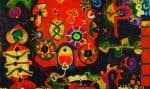 Edmund Alleyn, «Fête aux lanternes chez les Sioux, peuple pacifique», 1964. Huile sur toile.