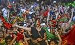 Une foule en délire, estimée par les organisateurs à plus de 50000 personnes, a célébré à Lisbonne la victoire de son équipe.