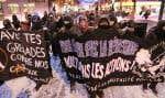 Les manifestants se sont d'abord rassemblés en début de soirée dans le quartier Hochelaga-Maisonneuve, sur la rue Ontario.