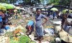 Un marché public de Port-au-Prince. C'est dans cette ville, où se déploient les nombreuses incongruités d'Haïti, que Gary Victor a situé l'action de son 18eroman.
