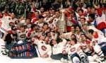 Les Canadiens ont remporté leur dernière Coupe Stanley le 9 juin 1993, à Montréal, contre les Kings de Los Angeles.