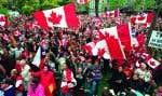 Le fameux «love-in» des Canadiens pour le Québec en octobre1995. Selon les auteurs, il faut prévoir que le Canada se battra bec et ongles pour empêcher le Québec de conquérir son indépendance.