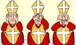 L'exposition comprend quelques œuvres du caricaturiste du «Devoir», Garnotte, dont celle-ci, publiée le 6 avril 2010