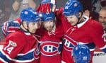 Jeff Petry, Alex Galchenyuk et Paul Byron (au centre sur la photo) ont été les buteurs du Tricolore.