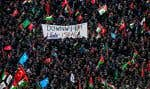 Des manifestants pro-palestiniens ont scandé des slogans anti-américains dimanche, en Turquie.
