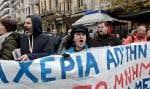 La grève de lundi, à laquelle appelaient de nombreux syndicats, a créé d'énormes embouteillages dans Athènes.