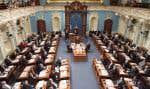 Le Salon bleu de l'Assemblée nationale